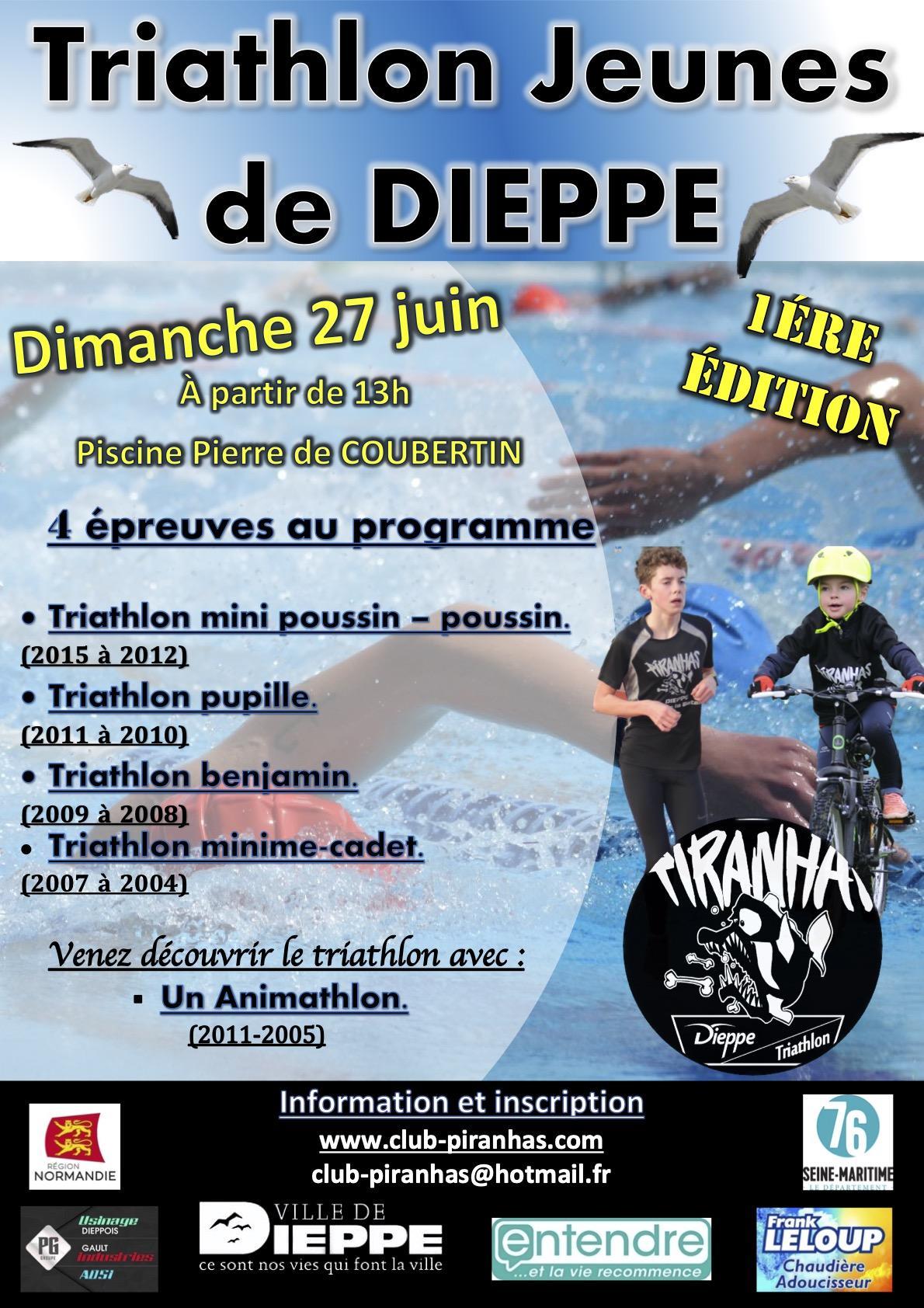 Triathlon jeune de Neuville les Dieppe