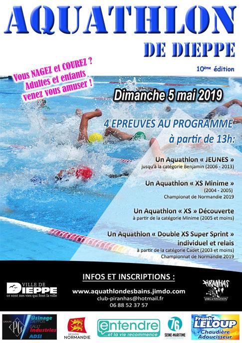Championnat de Normandie d'Aquathlon à Dieppe
