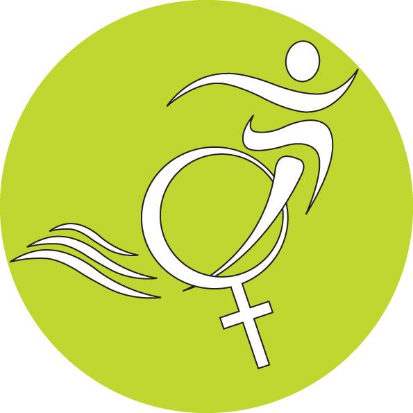 Logo label tri feminin vert et noir